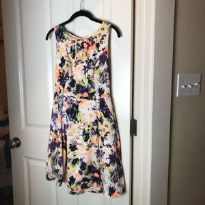 Anthropologie/Maeve Neon Floral Dress (4)